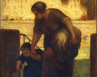 Poster, Many Sizes Available; Honore Daumier, The Laundress The Metropolitan Museum Of Art