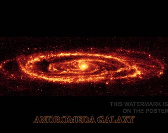 Poster, Many Sizes Available; Andromeda Galaxy Taken By Spitzer P3