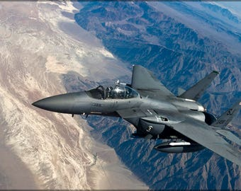 Poster, Many Sizes Available; Us Air Force F-15 Strike Eagle With The 335Th Fighter Squadron