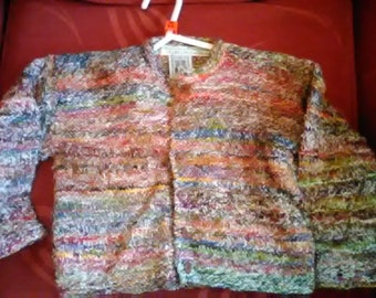 Hand knitted Cardigan, knitted in home spun wool to fit a child aged 3-4 years old