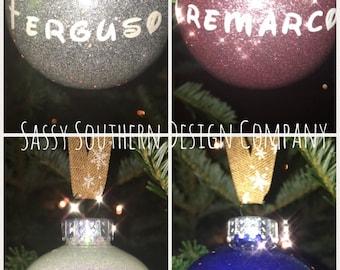 Christmas Ornaments glitter