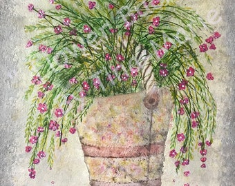 Flower Bucket - Giclee Print