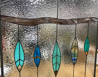 Stained Glass Feathers Window