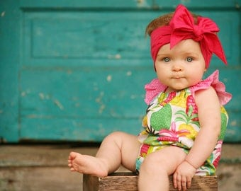 CERISE Gorgeous Wrap- headwrap; fabric head wrap; pink head wrap; boho; newborn headband; baby headband; toddler headband