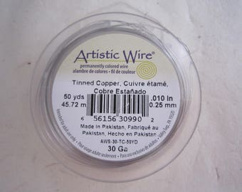 Artistic wire silver color - 0.25 mm, 45 m - copper wire