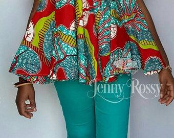 African clothing Free blouse Ankara Maternity Top Ankara plus size top
