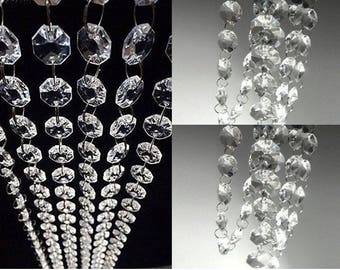 30FT Acrylic Crystal Garland Hanging Bead Chains Decorations