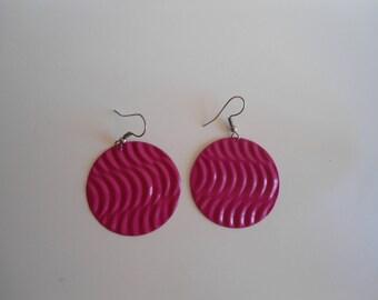 Colourful vintage Earrings, 80s earrings,  Stylish earrings, Funky earrings. No shippingcosts.