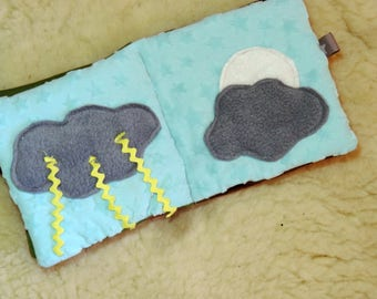 fabric for baby activity book: the senses