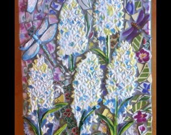 Beargrass and Dragonfly Ceramic Mosaic