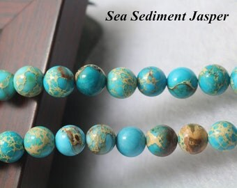 Sea Sediment Jasper, Smooth Round Gemstone Beads,6mm 8 mm 10mm 12mm Sea Sediment Jasper beads,15 inches 1 strand