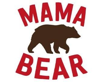 Mama Bear Decal No. 2