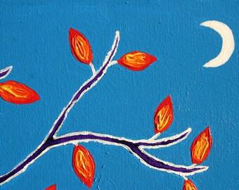 Autumn Moon - Original Acrylic Painting