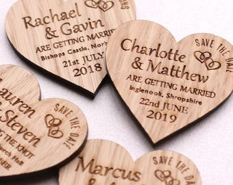 Save the Date Magnet, Wooden Heart Save the Date, Rustic Wood Save the Date Wedding Magnets, Custom Wood Magnet Rustic Wedding Invitation