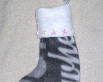 Gray boot Christmas fleece