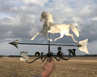 Cutout Horse Weathervane Parts, Lightning Rod Finial, Barn Topper, Country Decor b Metal Horse Weathervane, Horse Weather Vane, Cutout Horse