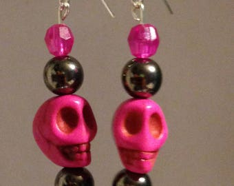 Pink and Silver Skulls