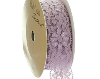 "7/8"" Stretch Elastic Lace Trim - Taupe- Choose Length"