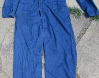 Vintage Walls Master Made Texas Iron Works Inc Alaska District Oil Field Coveralls Jumpsuit Size Large Distressed