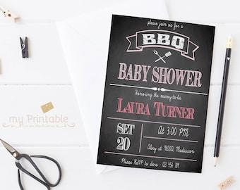 BBQ Babyshower Invitations / Printable
