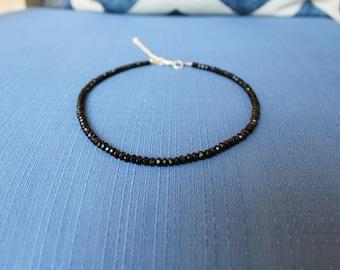 Black Bead Choker Necklace