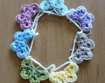 Beautiful crochet butterfly bunting
