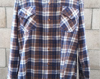Vintage 1970s Mens Flannel by Lee