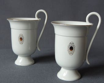 Two Noble coffee cups/cocoa cups-Bauer & Lehmann Leuchtenburg Germany