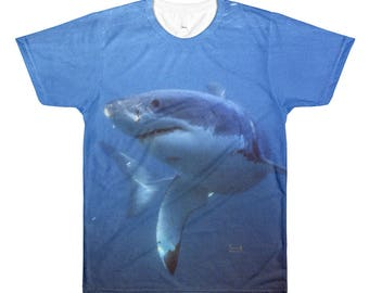 Great White Shark All-Over Printed T-Shirt