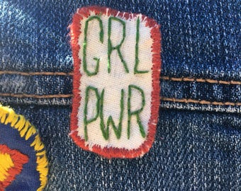 Handmade embroidered Girl Power patch
