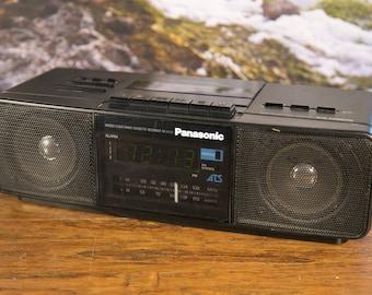 Panasonic RC-X250 Alarm Clock Radio Cassette Player- Tested!