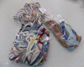 Three Bags of Silk for Ribbon Embroidery