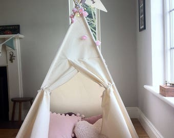 Teepee tent for kids. All poles included. Built in stabiliser system.  3 different size options available.