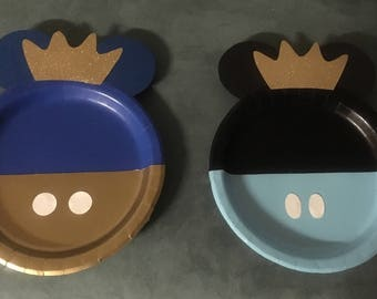 Mickey Mouse King plates