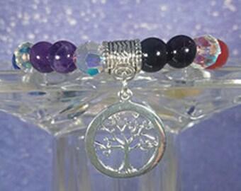 Chakra Balancing Bracelet with Tree of Life Charm 1353