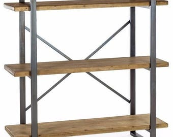 Shelving Unit. Metal & Wood Style Industrial Shelf Unit.
