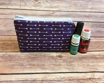 Purple arrow oil bag, essential oil bag, oil bag, essential oil case, essential oil storage, essential oil travel bag, oil holder,