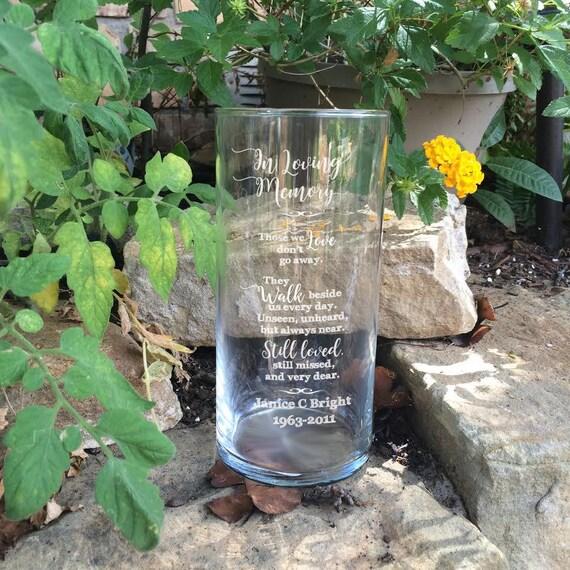 Personalized Memorial Vases In Loving Memory Vase Floating
