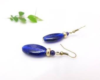 Retro earrings ~ Cobalt ~