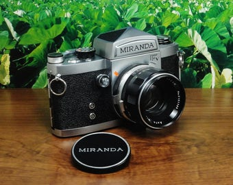 Vintage MIRANDA Fv 35mm SLR Film Camera, Auto Miranda 50mm f/1.9 lens, New Light Seals, Circa: 1967, Super Condition!