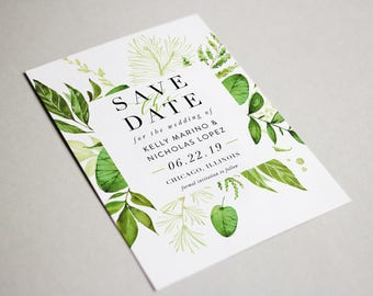 Botanical Save the Date, Printable,  Digital File, DIY,  5x7