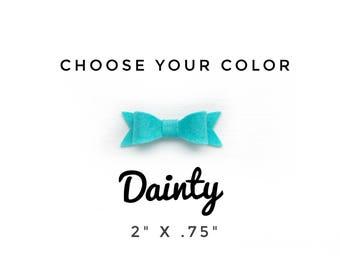 Dainty Bow, Choose Your Color, Hair Clip, Baby Bow Headband, Baby Headband, Felt Bow Headband, Baby Hair Bows, Hair Bows, Newborn Bow,