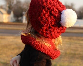 PATTERN ONLY* Rosey Red Slouchy Hat
