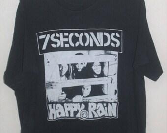 VINTAGE 1991 7 SECONDS PUNK rock hardcore promo sxe t shirt minor threat