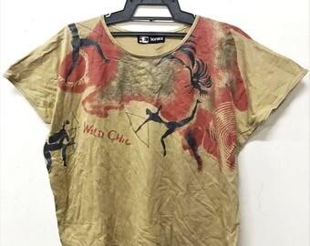 VINTAGE KANSAI YAMAMOTO wild chic japan designer batwing shirt t yohji
