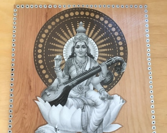 Saraswati wall art
