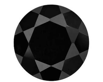 Genuine Natural Black Spinel AAA Rated Round Faceted Loose Stones (1mm - 15mm)
