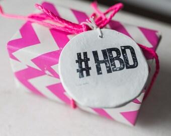 Happy Birthday gift tag, HBD gift tag, birthday tag, happy birthday tag, birthday card,  birthday keepsake