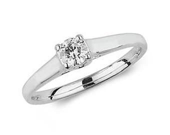 Diamond  SOLITARE Wedding Engagement Ring