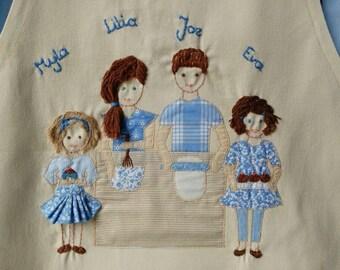 Personalised apron for grandma, grandpa, mum or dad